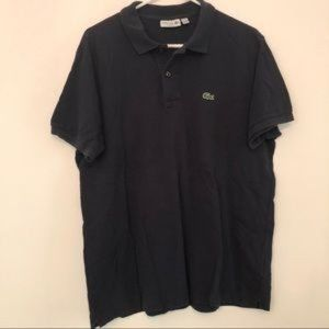 Lacoste Navy Blue Classic Fit Short Sleeve Polo XL